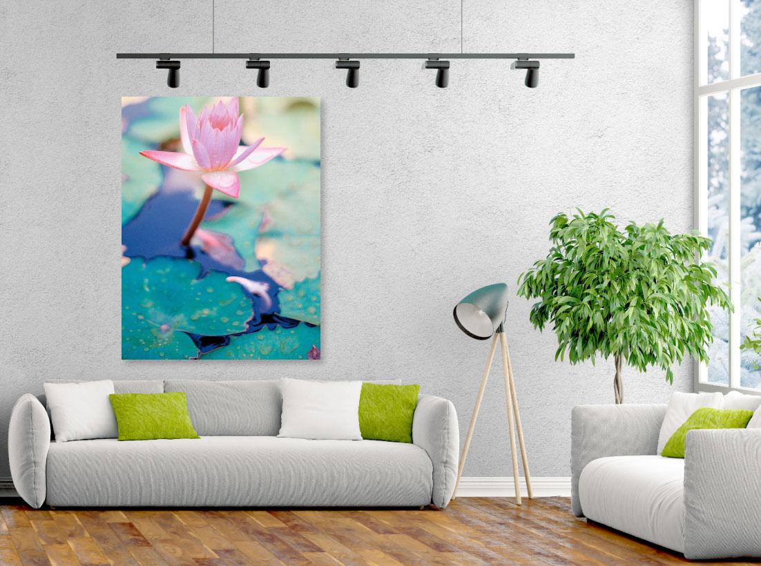 Tablou canvas Floare Roz de Lotus - Pepanza.ro