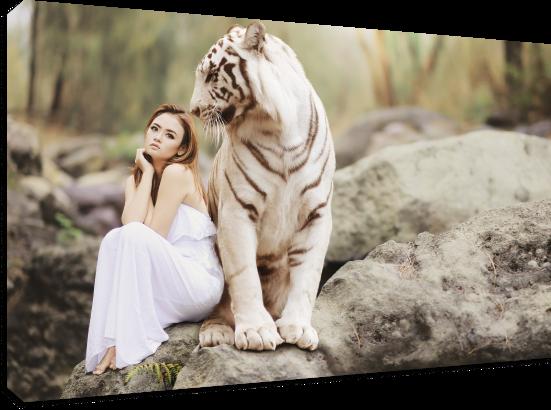 Tablou canvas Tigru îmblânzit - Pepanza.ro