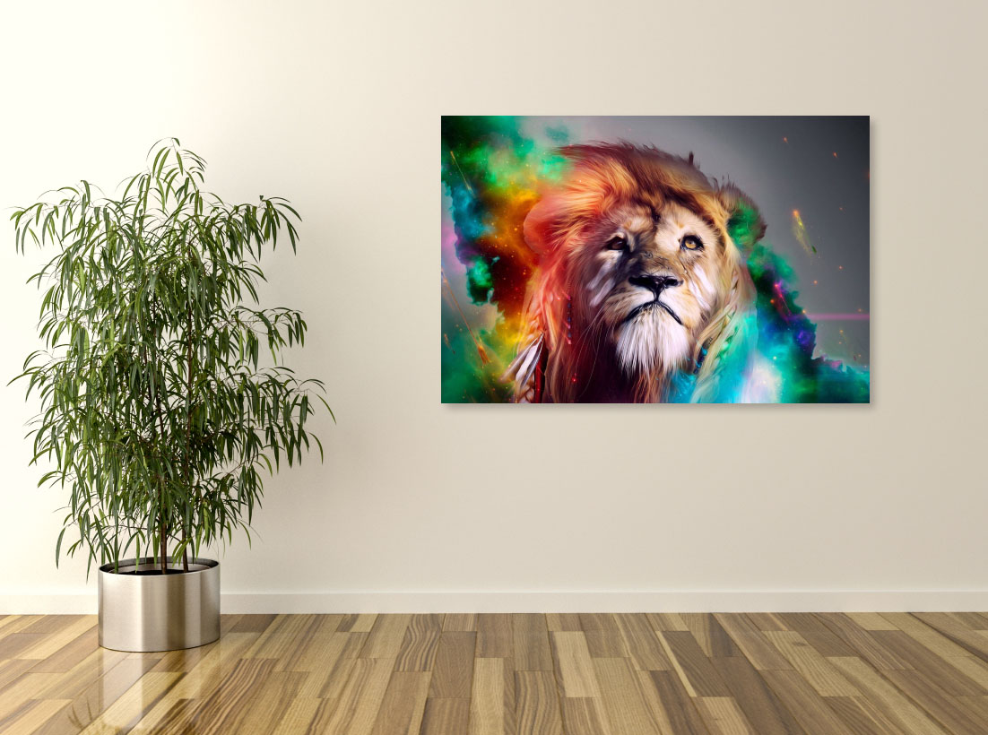 Tablou canvas Abstract lion dim. 2 - Pepanza.ro