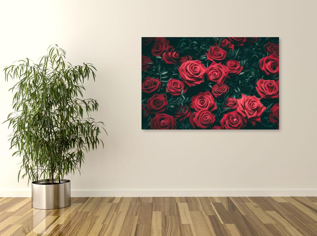 Tablou canvas Trandafiri rosii - Pepanza.ro