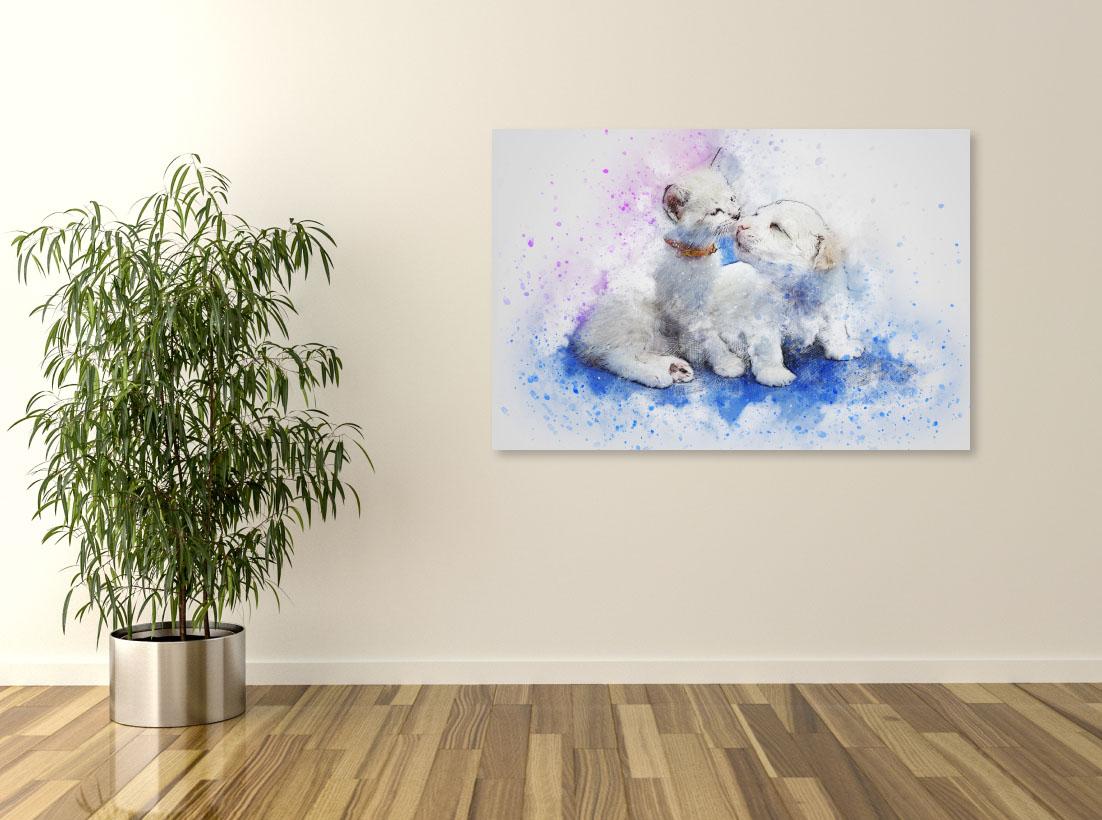 Tablou canvas Lovely pets - Pepanza.ro