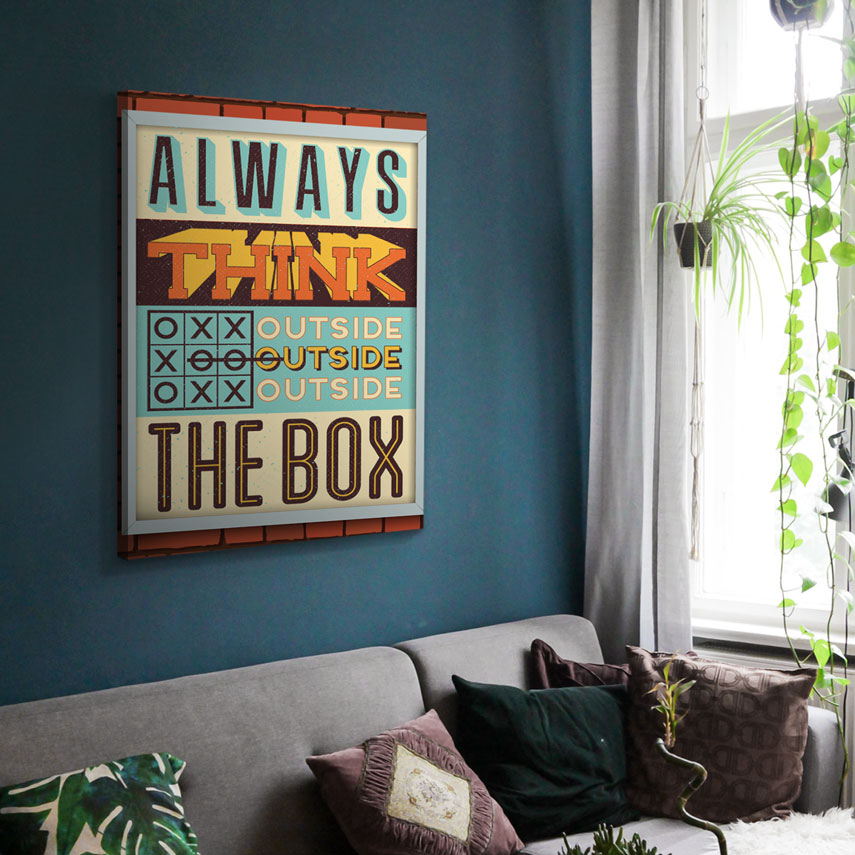 Tablou canvas Think outside the box
