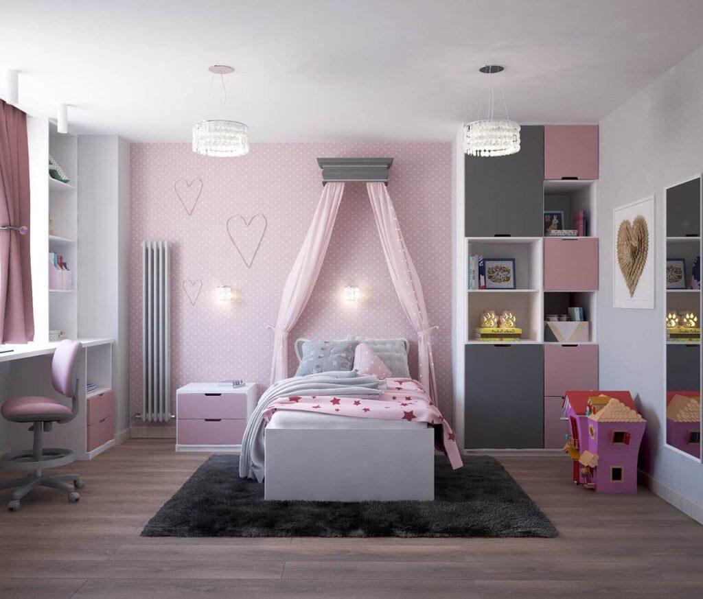 Decoratiunile interioare pentru camera fete
