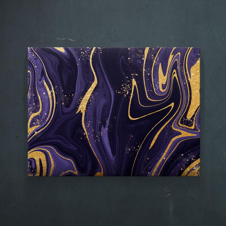 Arta abstracta mov- Pepanza.ro