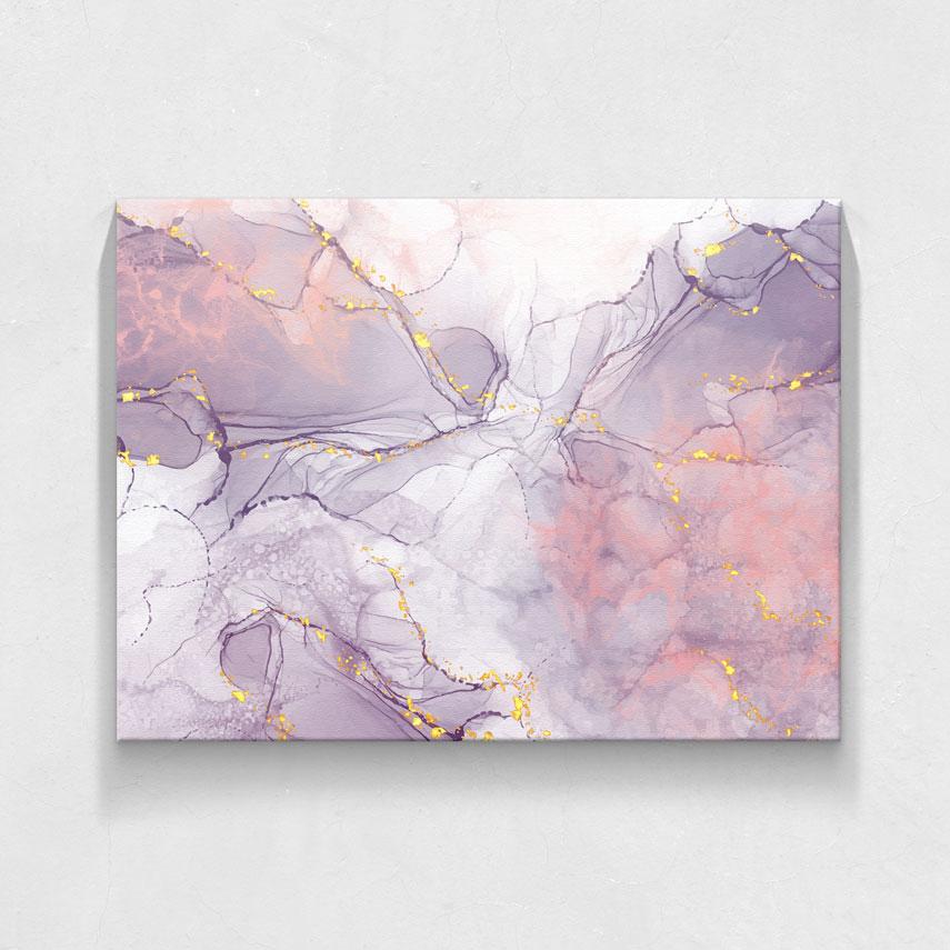 Abstract gold and purple art- Pepanza.ro