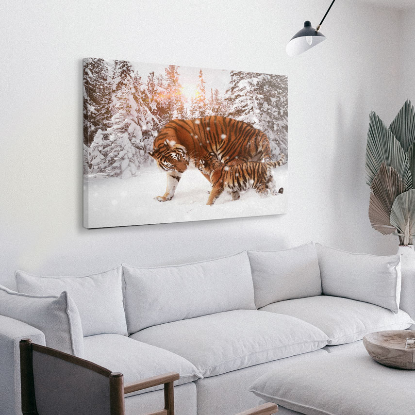 Tablou animale Tigru cu pui - Pepanza.ro