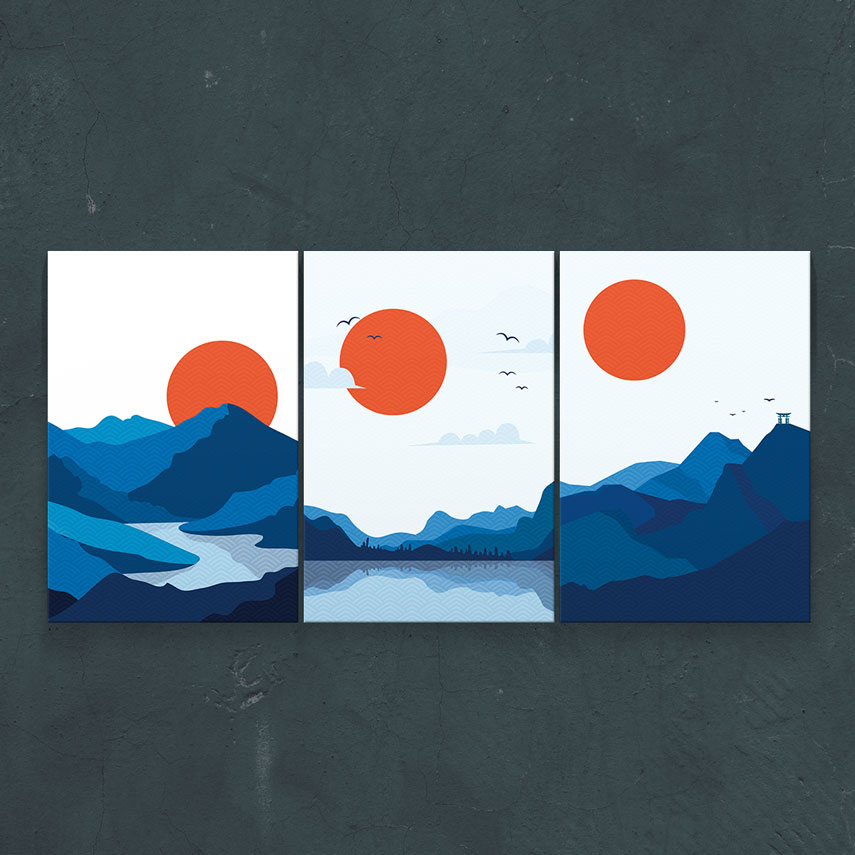 Peisaj montan 3 piese- Pepanza.ro