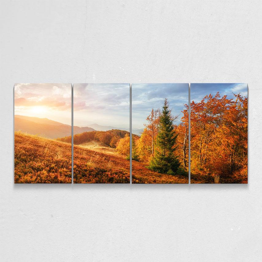 Tablou cu 4 piese Autumn - Pepanza.ro
