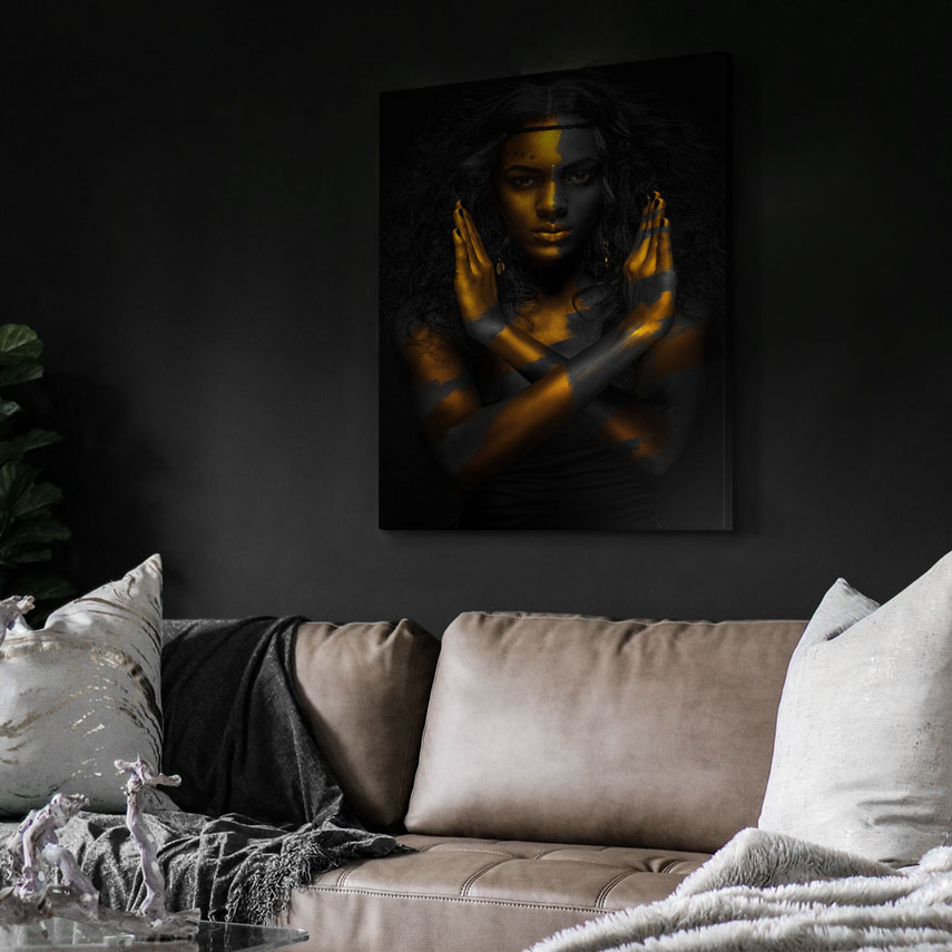Tablou canvas Black and Gold Art - Pepanza.ro