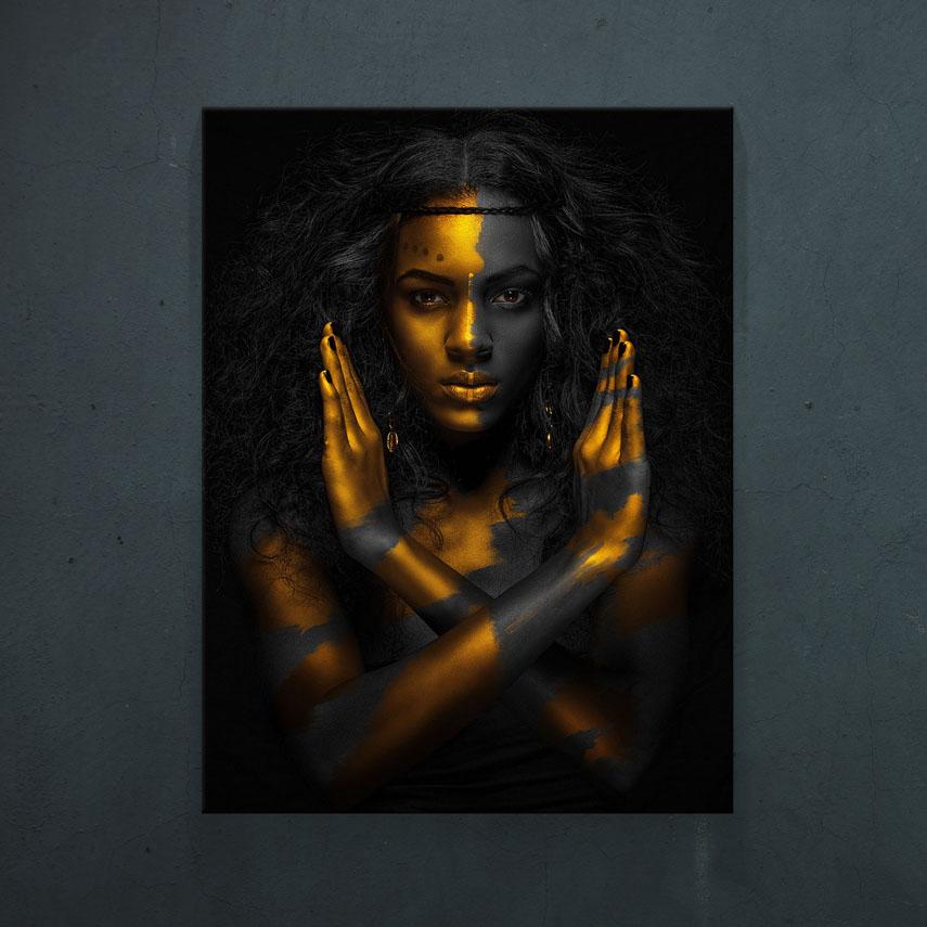 Black and Gold Art- Pepanza.ro