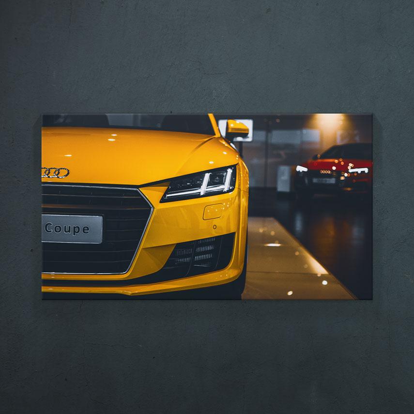 Audi Coupe galben- Pepanza.ro