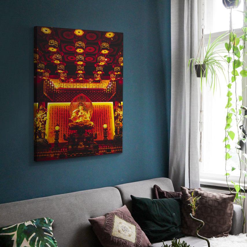 Tablou canvas Interior Templu Buddha - Pepanza.ro