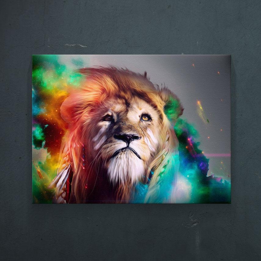 Abstract lion dim. 2- Pepanza.ro