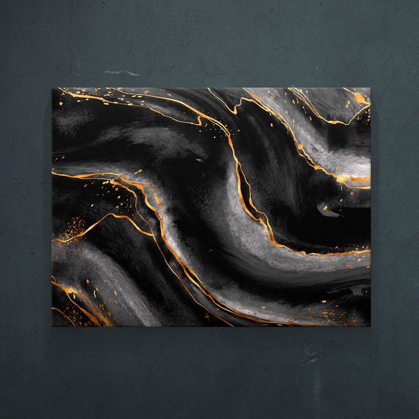 Abstract black and gold - Pepanza.ro