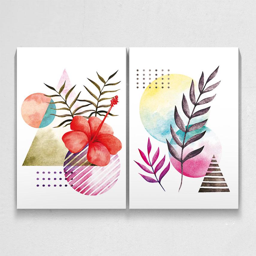 Compozitie colorata 2 piese- Pepanza.ro