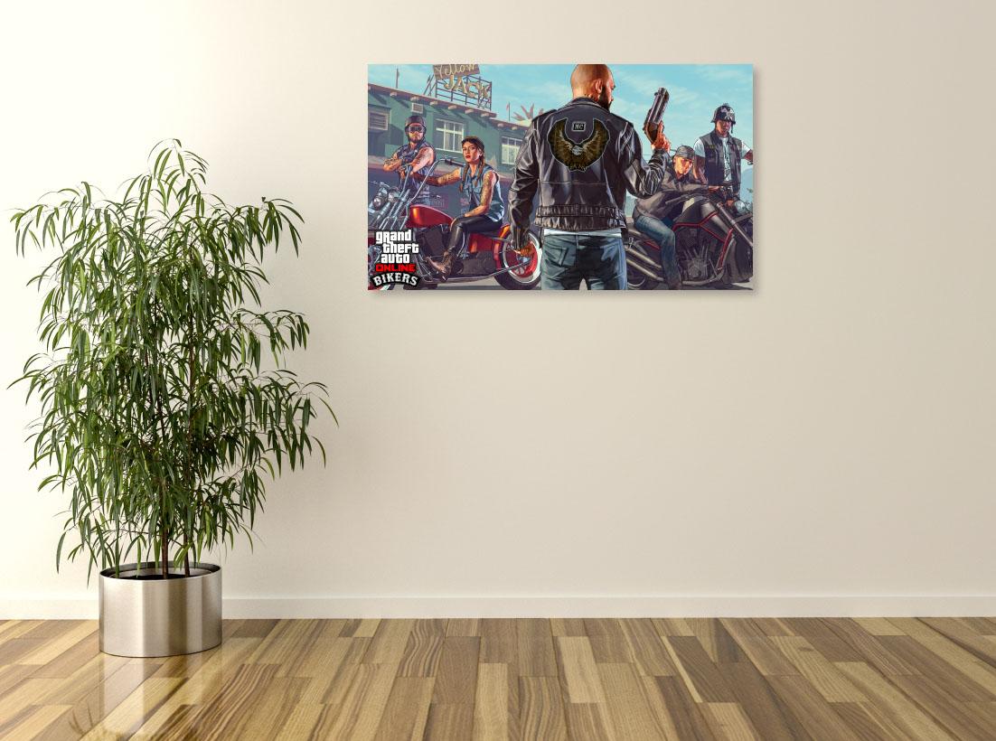 Tablou Jocuri Video Grand Theft Auto - Bikers - Pepanza.ro