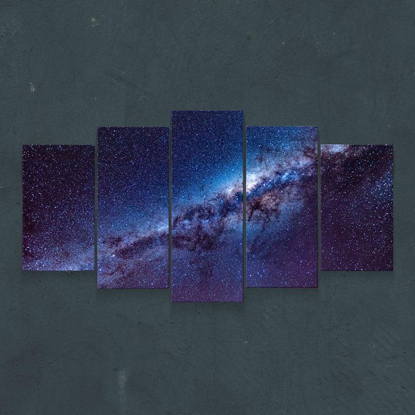 Tablou cu 5 piese Galaxie - Pepanza.ro