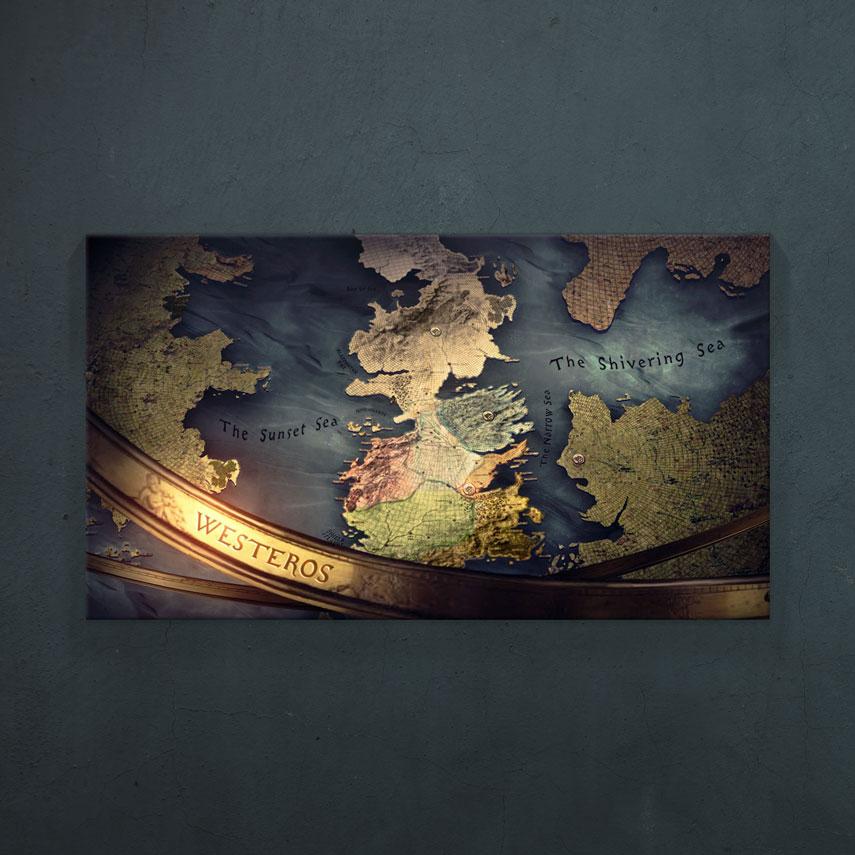 Tablou Filme Game of Thrones, harta Westeros - Pepanza.ro
