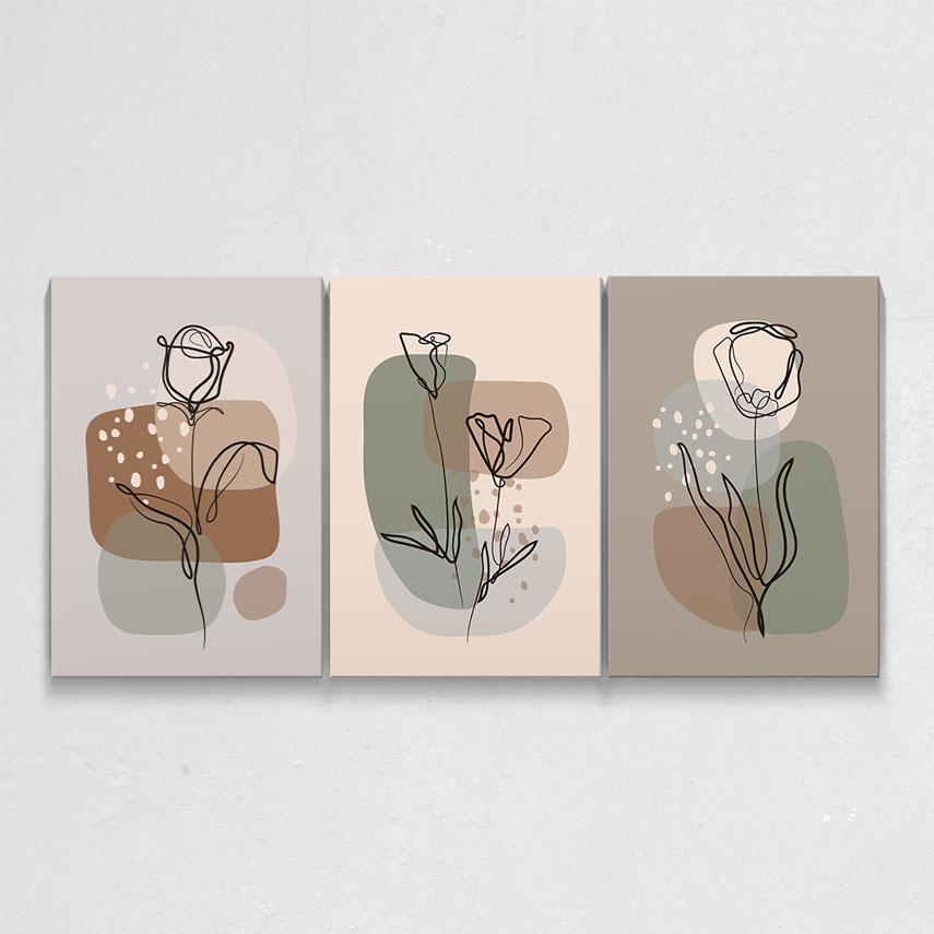 Line art flower- Pepanza.ro