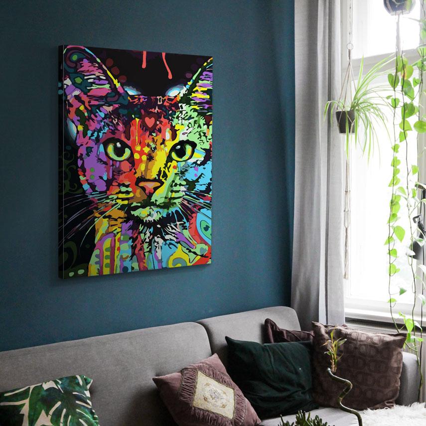 Tablou canvas Abstract cat - Pepanza.ro