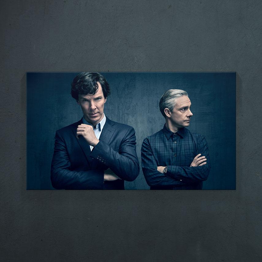 Sherlock Holmes and Watson- Pepanza.ro