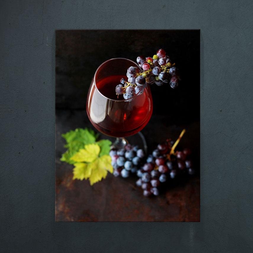 Pahar cu vin și struguri- Pepanza.ro
