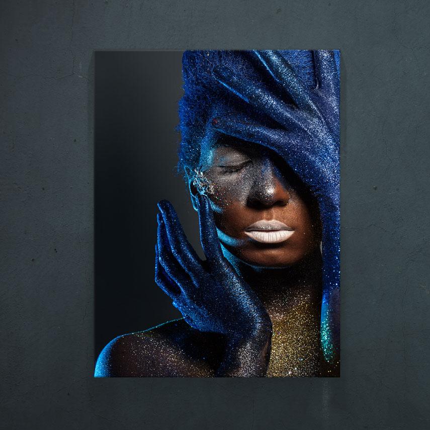 Blue and Gold Woman- Pepanza.ro