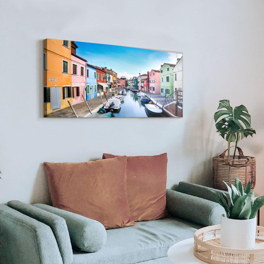 Tablou canvas Peisaj Cladiri Colorate - Pepanza.ro