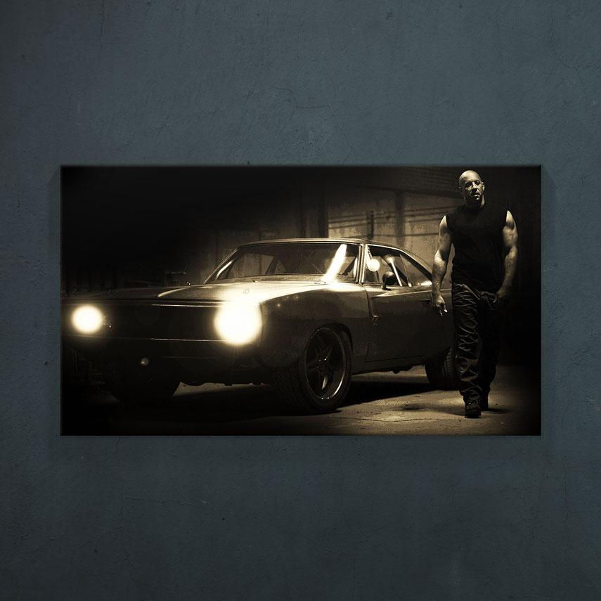 Fast & Furious - Vin Diesel and his car- Pepanza.ro