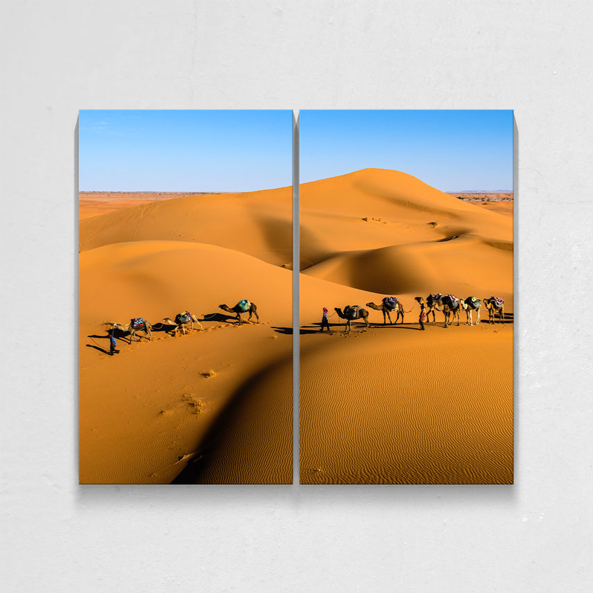 Tablou cu 2 piese Peisaj Desert - Pepanza.ro