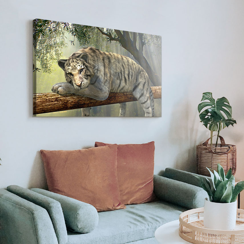 Tablou animale Tigru îmblânzit - Pepanza.ro