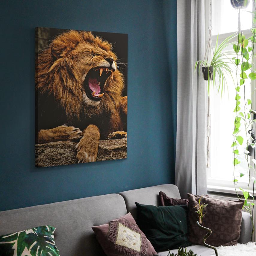Tablou animale Angry lion - Pepanza.ro