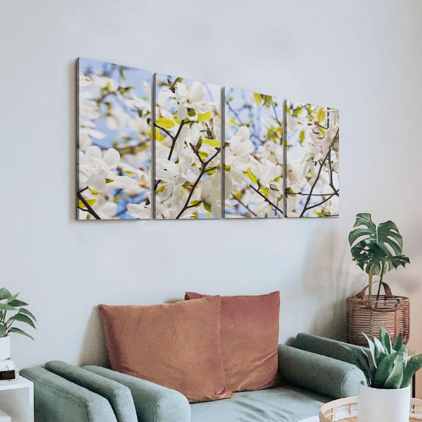 Tablou canvas Flori Albe de Magnolie - Pepanza.ro