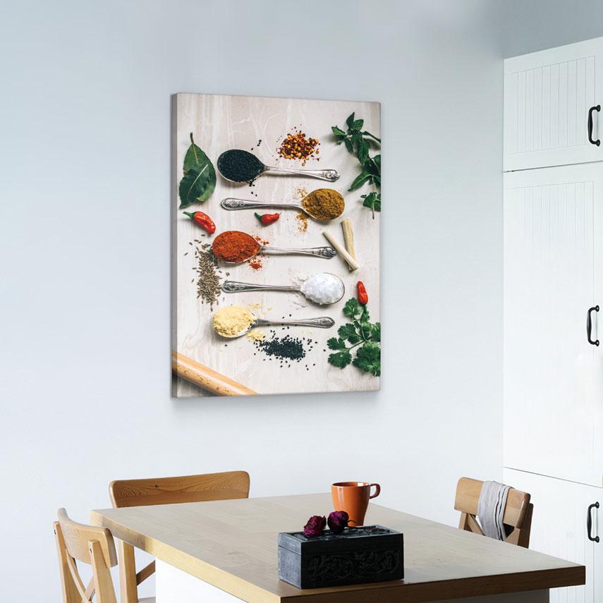 Tablou canvas Linguri cu Condimente - Pepanza.ro