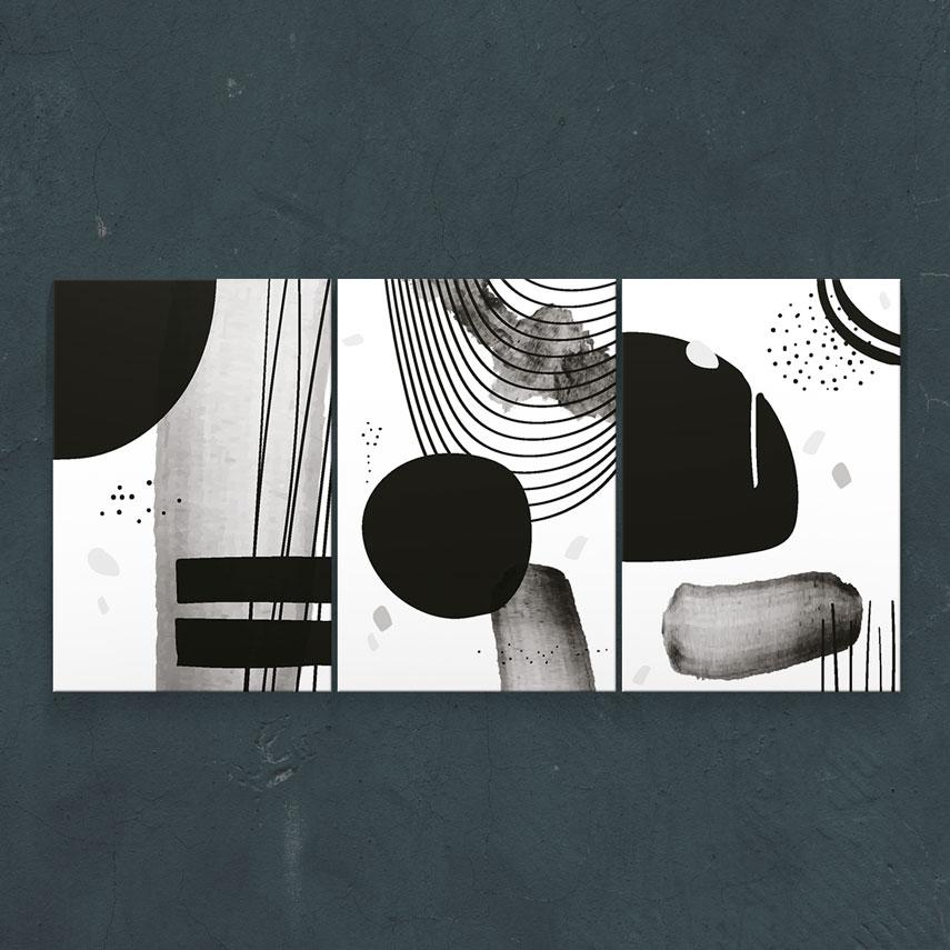 Black and white art 3 piese- Pepanza.ro