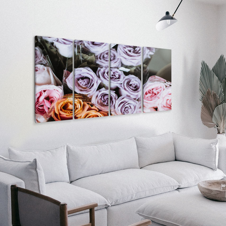 Tablou cu 4 piese Bouquet of roses - Pepanza.ro