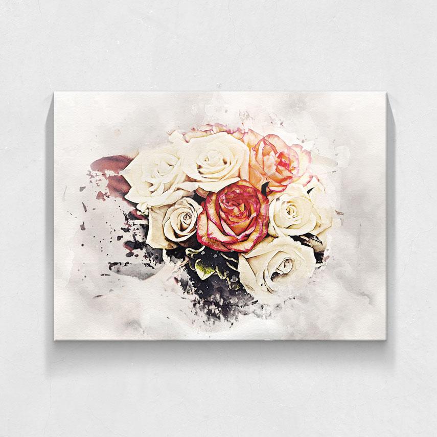 Bughet de trandafiri pictati- Pepanza.ro