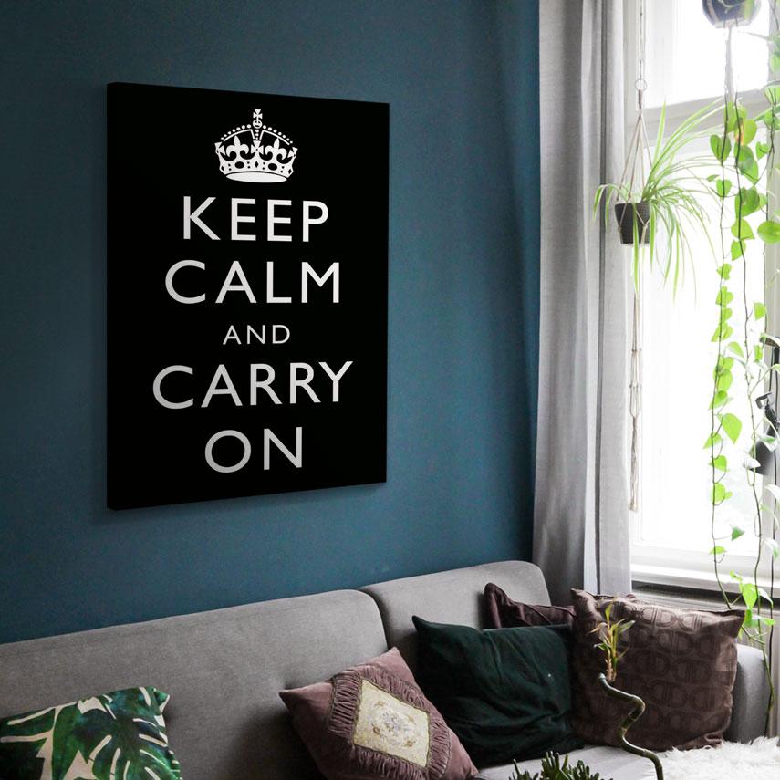 Tablou canvas Keep Calm and Carry - Pepanza.ro