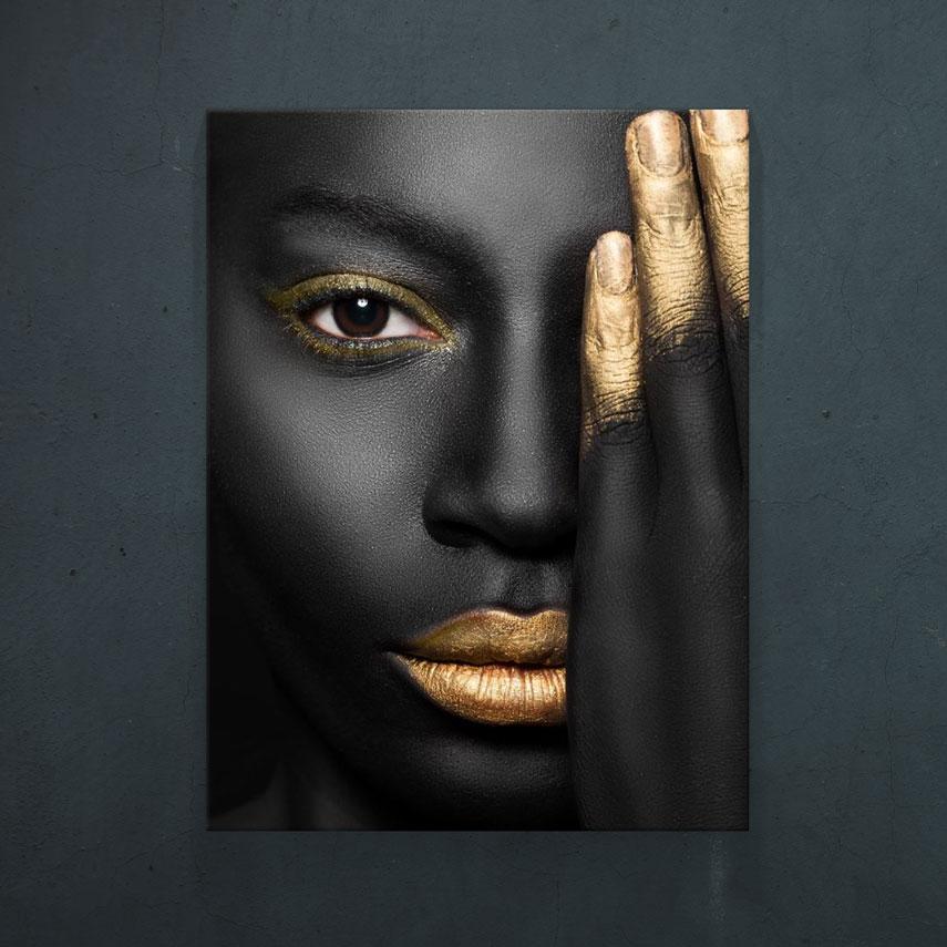 Black and Gold Eye- Pepanza.ro