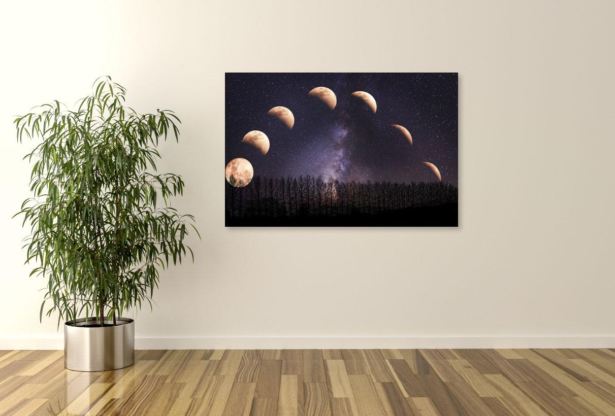 Tablou canvas Luna si stele - Pepanza.ro